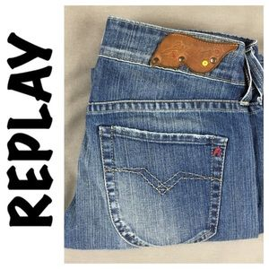 Replay Denim - ☮️Replay Designer Distress/Faded Jean in size 28