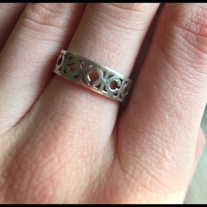 Coach Jewelry - Coach sterling silver ring size 8