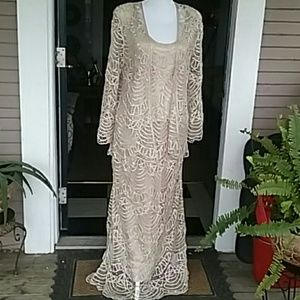 Soulmates Dresses & Skirts - SOULMATES 100% silk 3 pc mother of the bride dress