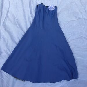 Ruby Rox Dresses & Skirts - Blue & Black Tulle skater dress. Casual prom dance