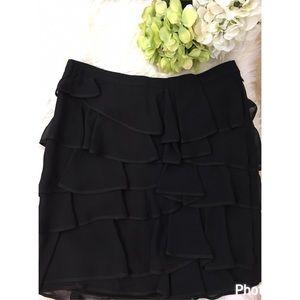 Elizabeth and James Dresses & Skirts - Elizabeth & James tiered silk ruffle mini skirt
