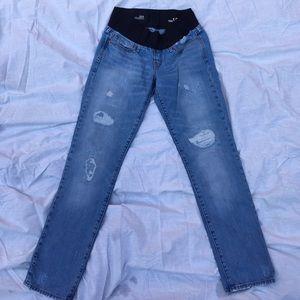 GAP Denim - GAP distressed maternity jeans. 28/6 boyfriend fit