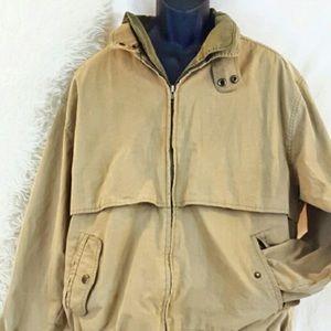 London Fog Other - LONDON FOG Large Long Tan Jacket Windbreaker Zip