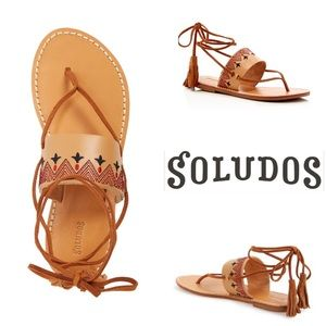 Soludos Shoes - Soludos, size 6 embroidered sandal, nwob