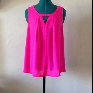 """Skies Are Blue Tops - Hot Pink """"Skies are Blue"""" Tank (M)"""