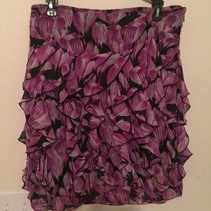 Worthington Dresses & Skirts - Worthington Ruffle Design Side Zipper Skirt Sz 10