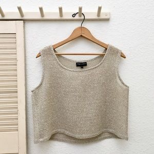 Melior Tops - Melior Light Mesh Knit Crop Tank Top