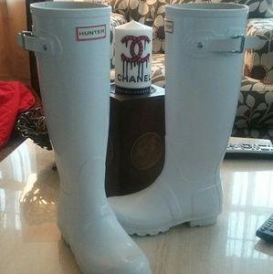 Hunter Boots Shoes - HUNTER Original Gloss White Rain Boots 5