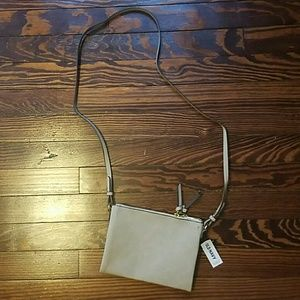 Sueded Cross-body Bag
