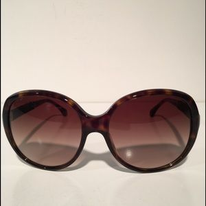 CHANEL Accessories - Chanel Brown Oval Sunglasses