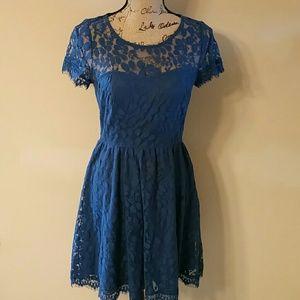 LC Lauren Conrad Dresses & Skirts - {Lauren Conrad} Blue Lace Dress