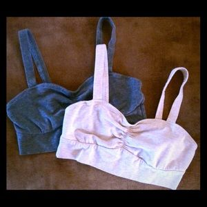 aerie Other - Two Aerie Bralette Bra Grey Cream Size Small