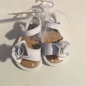 Baby Deer Other - White Sandals by Baby Deer