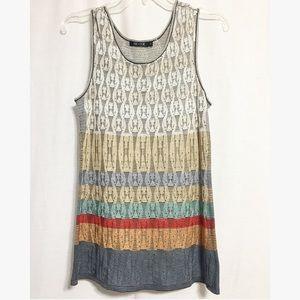 NIC + ZOE Tops - Nic + Zoe silk striped sleeveless blouse