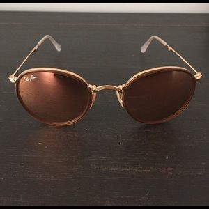 Ray-Ban Round Metal sunglasses - Gold/Copper Flash