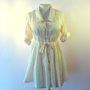 Love Stitch Dresses & Skirts - Love Stitch cotton dress soft boho style cream