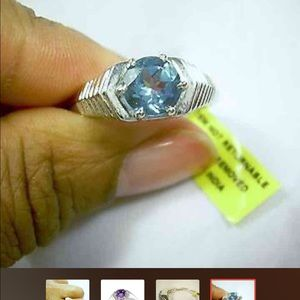 Other - Color Change Gemstone Men 14 Alexite Platinum Ring