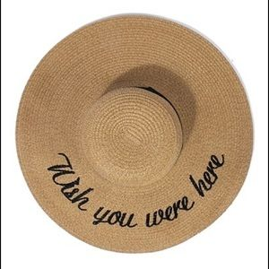 "Hannah Beury Accessories - ""Wish You were here"" Floppy Beach Hat"