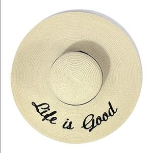 "Hannah Beury Accessories - ""Life is good"" Floppy Beach Hat"