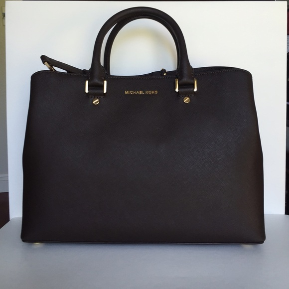 Michael Kors Savannah Large Saffiano Satchel Boutique