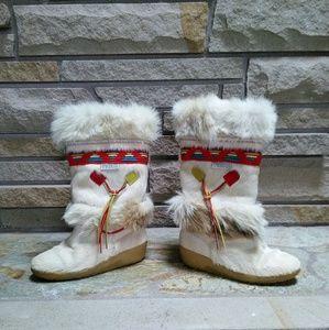 Tecnica Shoes - Tecnica Italian skandia cream fur winter boots