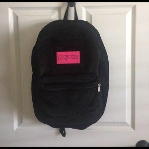 Jansport Handbags - Jansport faux fur backpack