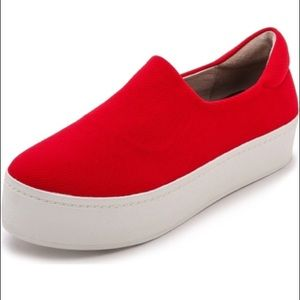 Opening Ceremony Shoes - Opening Ceremony Red Platform Sneakers