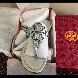 c7a9fb20f Tory Burch Shoes - 🏖💕Tory Burch Metallic Glossy Snake Print Miller