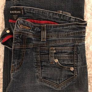 Flare denim jeans