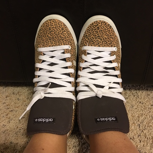 Adidas Shoes - Women s Adidas NEO label High top leopard print 56a78f226c