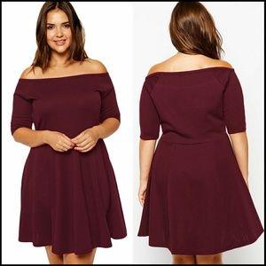 Dresses & Skirts - 🌟 Sale Boat Neck Skater Dress PLUS