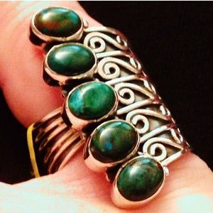 manufacturer (usa) Jewelry - NWTO! GENUINE STONE .925 Designer Ring Size 7