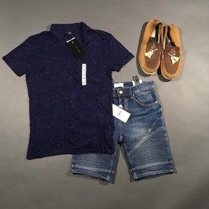Zara Other - Zara Men's Blue Short Sleeve Collared Polo