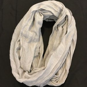 Accessories - Grey Sparkly Infinity Scarf