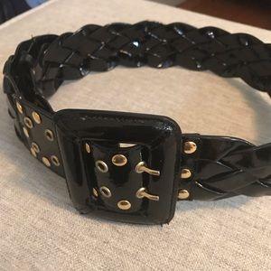 Be&D patent leather belt