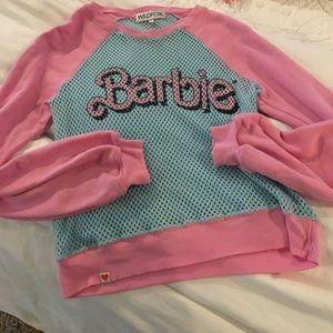 """Wildfox Tops - NWOT Wildfox. """"Barbie"""" Kim sweater w/ mesh body"""