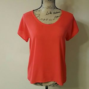 Soprano Tops - {Soprano} Orange Polyester Blouse
