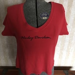 V-neck Harley tee