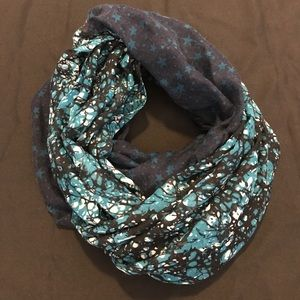 Faded Glory Accessories - Two-toned Blue Infinity Scarf
