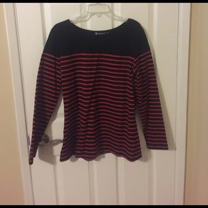 Allegra K Tops - Black and red striped top