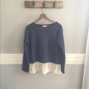Altar'd State Sweaters - Altar'd State Polka Dot Sweater