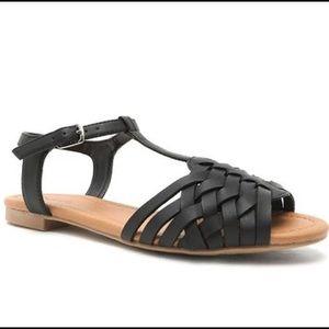 Qupid Shoes - Black ankle strap sandals