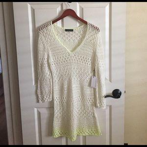 velvet Dresses & Skirts - New Velvet knitted dress/ cover up sz L.