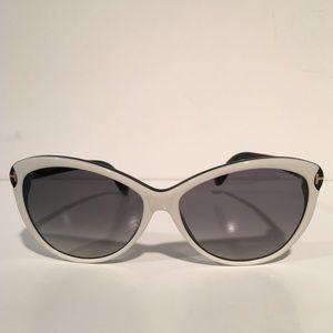 Tom Ford Accessories - Tom Ford Valentina Black White Cateye Sunglasses