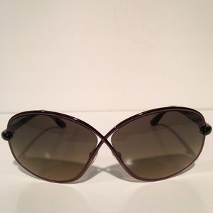 Tom Ford Accessories - Tom Ford Brigitte Bronze Oval Sunglasses NIB