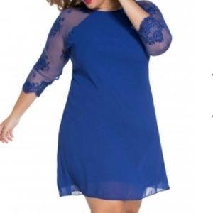 Dresses & Skirts - 🌟Sale Sheer Lace Chiffon Shift Dress PLUS