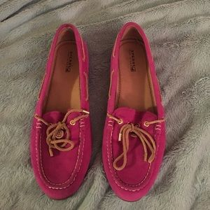 Pink Sperry Boat shoes