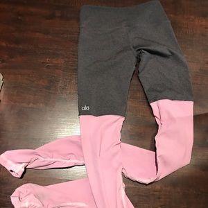 ALO Yoga Pants - GODDESS LEGGING🖤grey/pink