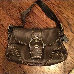 Coach Brown Leather shoulder purse