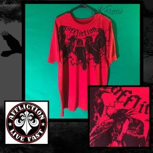 Affliction Other - AFFLICTION Black Crows Distressed Tee 3XL